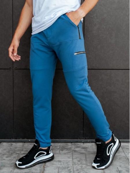 Спортивные штаны BEZET Zipper blue