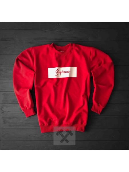 Красный свитшот Supreme