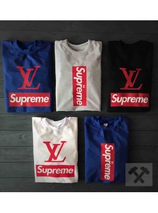 Белый свитшот Supreme и LV